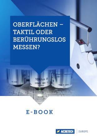Titelbild ACCRETECH E-Book Oberflächen taktil oder berührungslos messen