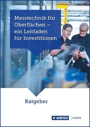 Titelbild ACCRETECH Investitionsratgeber Oberflächenmesstechnik
